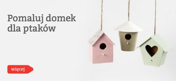 Pomaluj domek dla ptaków